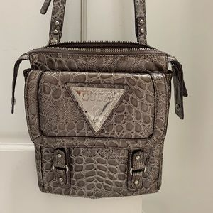 Gray Guess Cross Body Bag